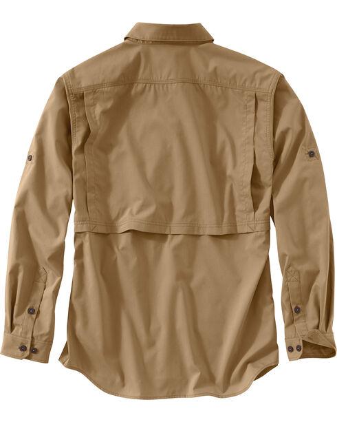 Carhartt Men's Khaki Force Ridgefield Solid Long-Sleeve Shirt, Khaki, hi-res