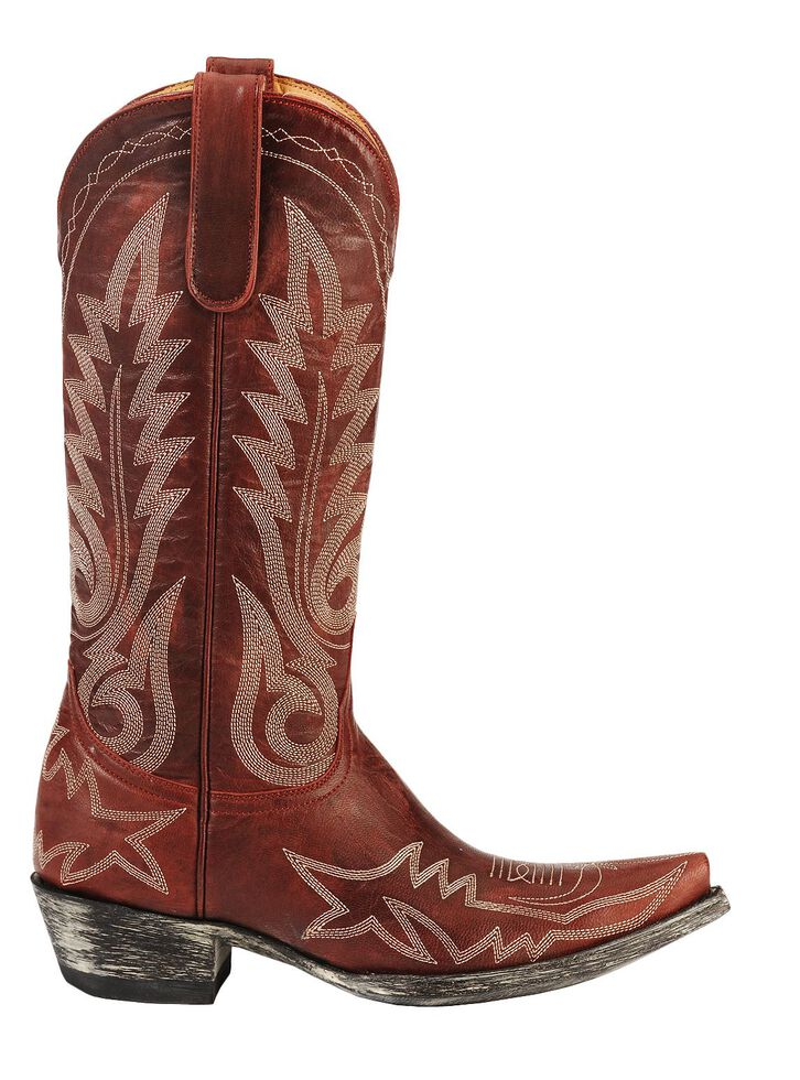 Old Gringo Nevada Cowgirl Boots - Snip Toe, Red, hi-res