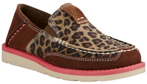 Ariat Kid's Cheetah Print Cruiser - Moc Toe, Cheetah, hi-res