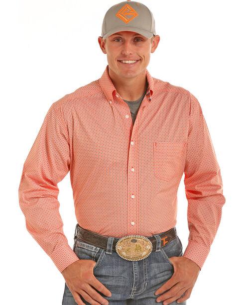 Tuf Cooper Performance Men's Competition Fit Print Shirt, Orange, hi-res