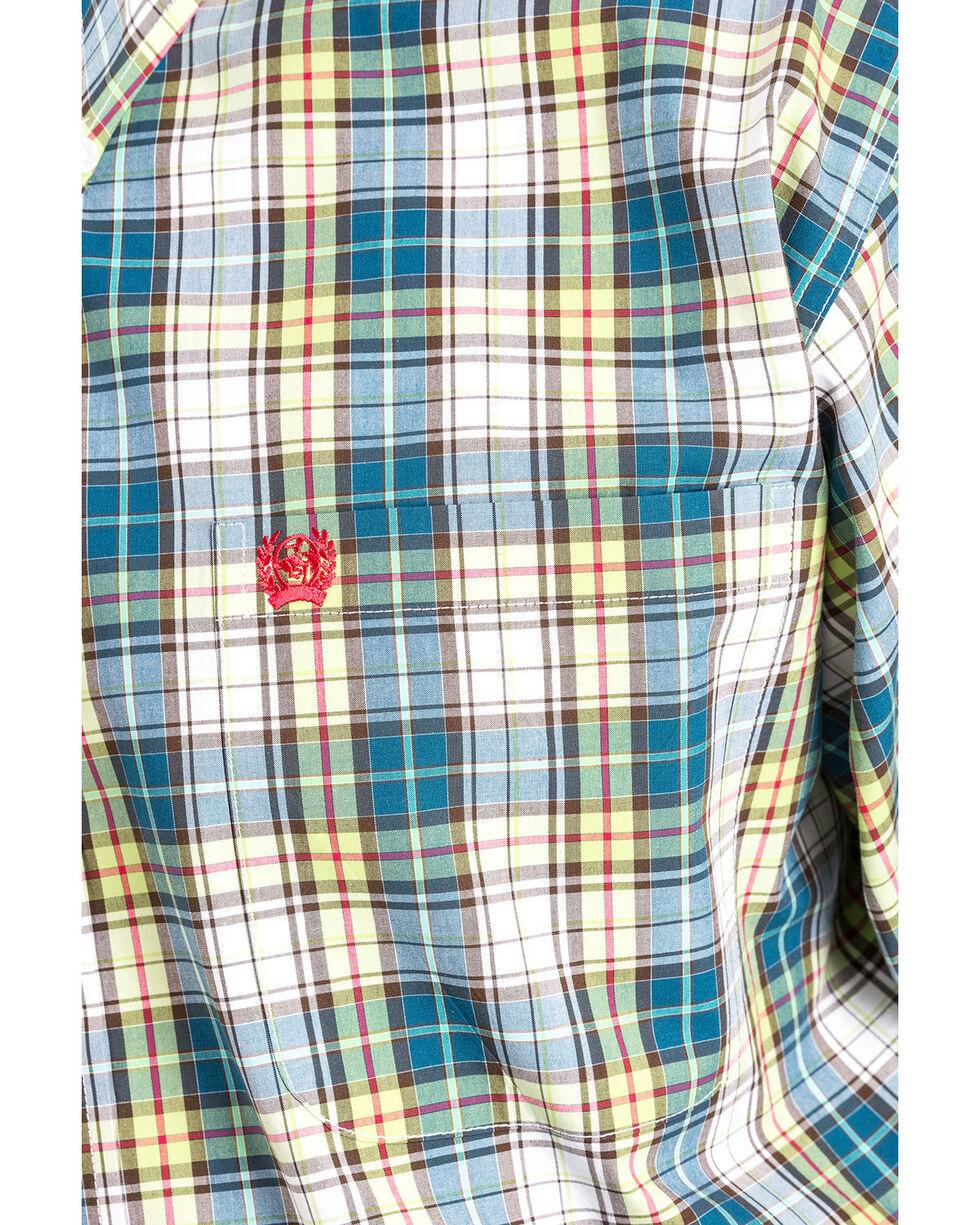 Cinch Men's Plaid Long Sleeve Button Down Shirt, Multi, hi-res