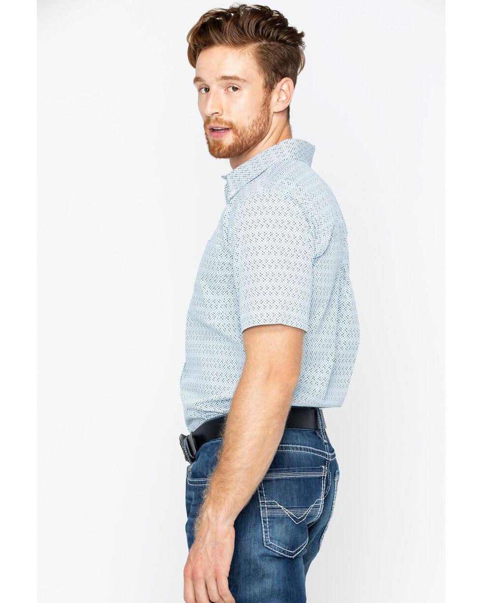 Cody James Men's Atlas Geo Print Short Sleeve Button Down Shirt, Blue, hi-res