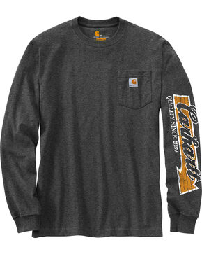 Carhartt Men's Workwear Graphic Carhartt Way Long-Sleeve T-Shirt - Big and Tall , Charcoal, hi-res