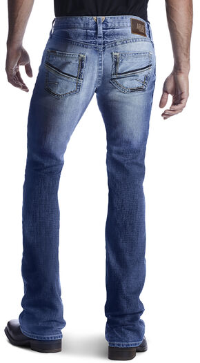 Ariat Men's M7 Rocker Shotwell Cinder Boot Cut Jeans, , hi-res