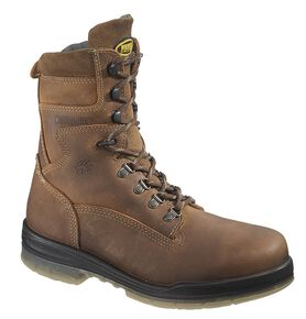 "Wolverine Durashocks 8"" Waterproof Insulated Work Boots - Steel Toe, Stone, hi-res"