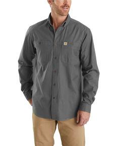 6ea49eb5f8b Carhartt Men s Rugged Flex Rigby Long Sleeve Work Shirt - Big