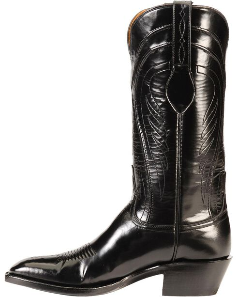 Lucchese Handcrafted Classics Seville Goatskin Boots - Square Toe, Black, hi-res