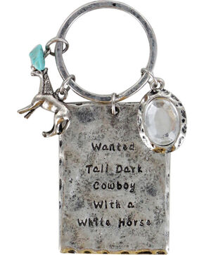 Shyanne® Women's Wanted Cowboy Keychain, Silver, hi-res