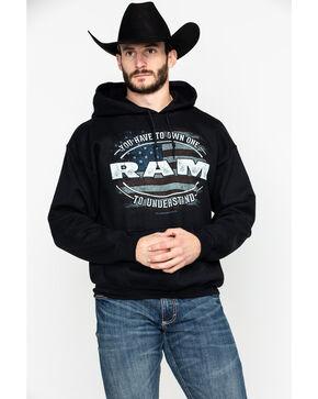 Buck Wear Men's Ram Own One Graphic Hooded Sweatshirt , Black, hi-res
