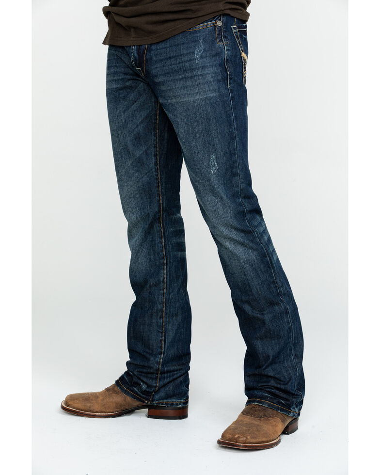 Stetson Rock Fit X Stitched Jeans, Dark Stone, hi-res