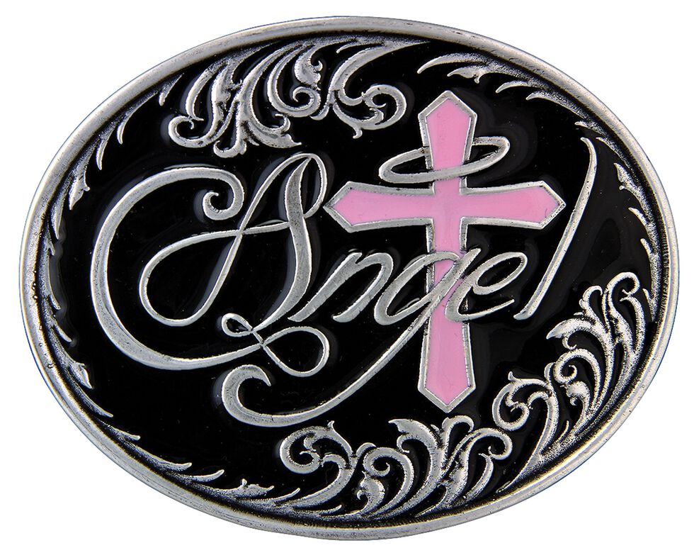 Montana Silversmiths Sweet Angel Attitude Cross Buckle, Silver, hi-res