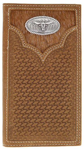 Cody James Men's Hair-on-Hide Longhorn Rodeo Wallet, Brown, hi-res