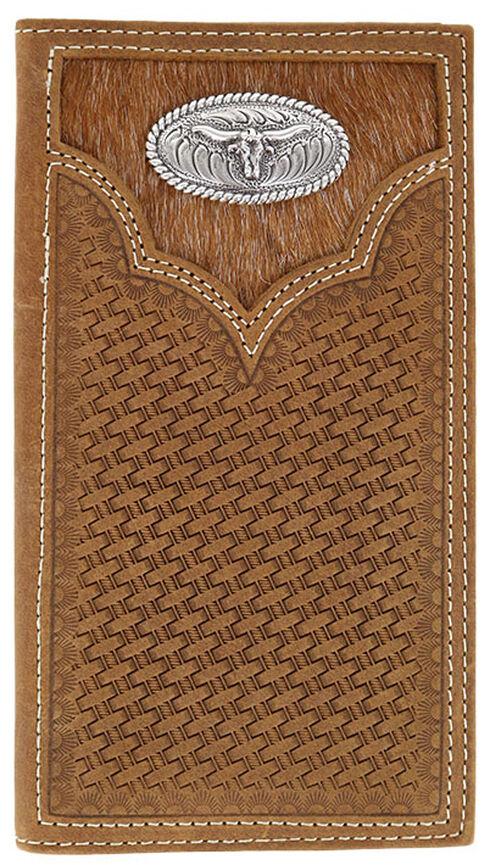 Cody James Men's Hair-on-Hide Longhorn Rodeo Wallet, Brown, hi-res