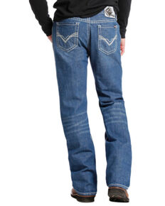 Rock & Roll Denim Medium Wash Double Barrel Relaxed Fit Flame Resistant Jeans - Boot Cut , Indigo, hi-res