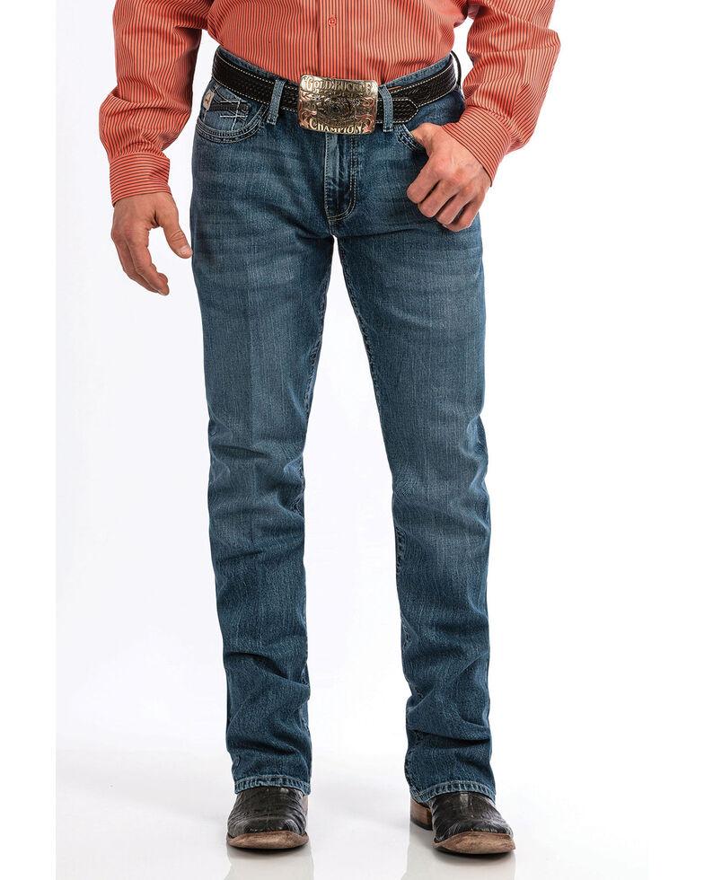 Cinch Men's Ian Medium Stonewash Slim Bootcut Jeans , , hi-res