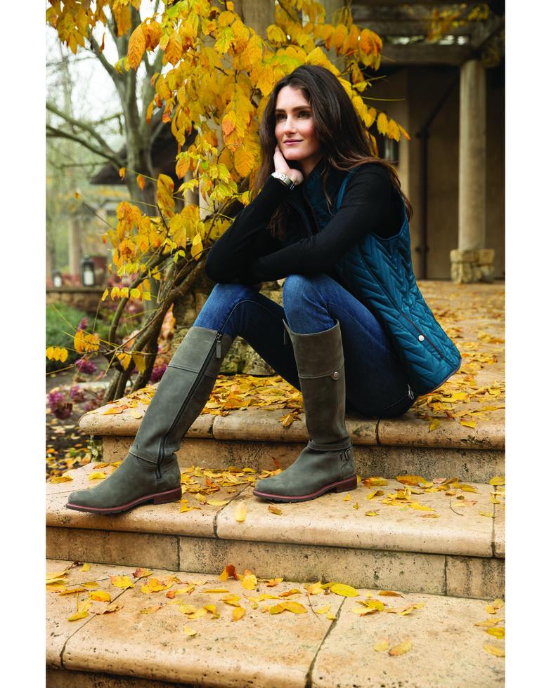 Ariat Women's Grey Carden Waterproof Western Boots - Round Toe, Grey, hi-res