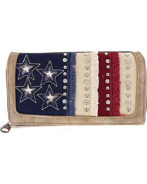 Shyanne Women's Americana Wallet, Khaki, hi-res