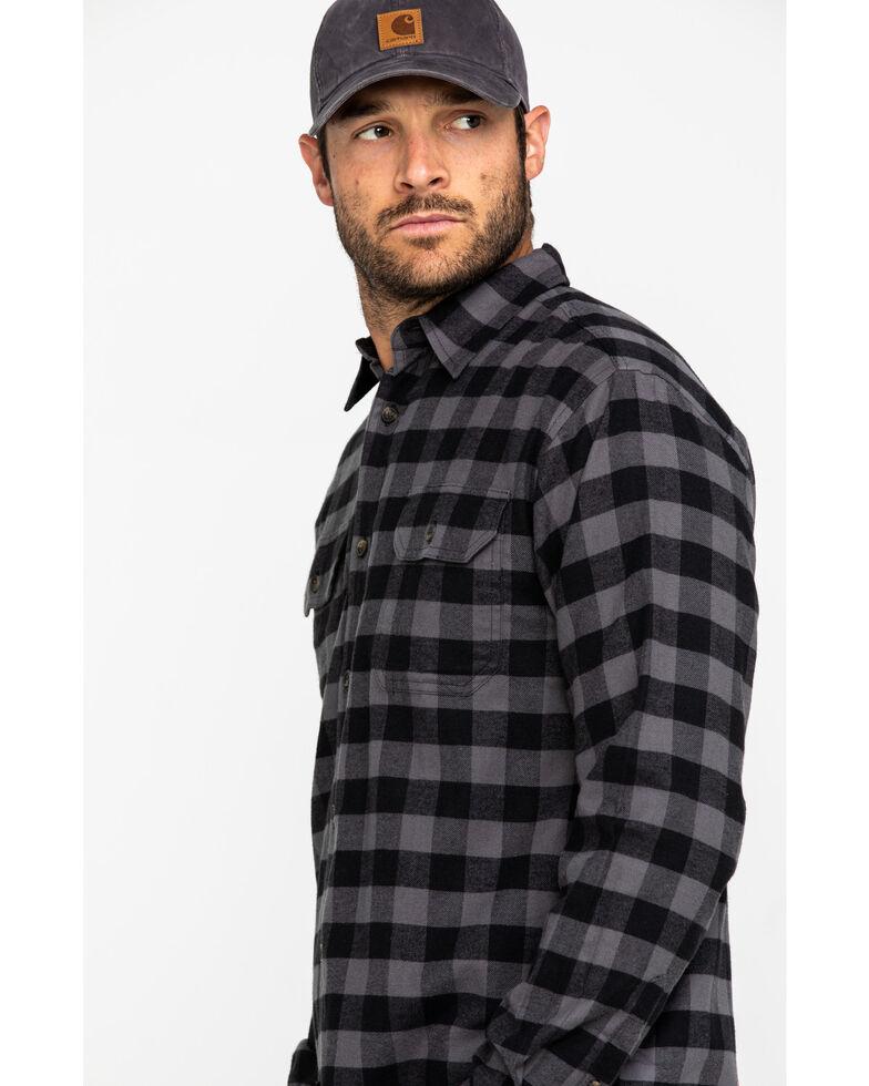 Dickies Men's Flex Stretch Flannel Long Sleeve Work Shirt , Slate, hi-res