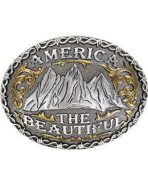 Cody James Men's America The Beautiful Belt Buckle, Silver, hi-res