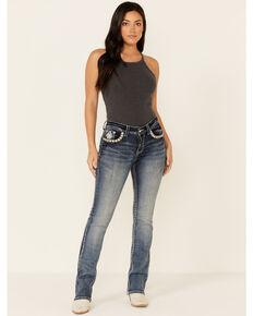 Grace in LA Women's Dripping Jewel Bootcut Jeans, Blue, hi-res