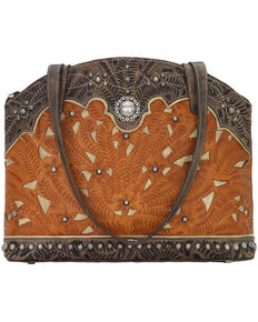 American West Women's Annie's Conceal Carry Half Moon Purse , Tan, hi-res
