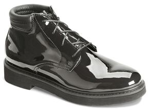 Rocky Dress Leather High Gloss Chukka Duty Shoes, Black, hi-res