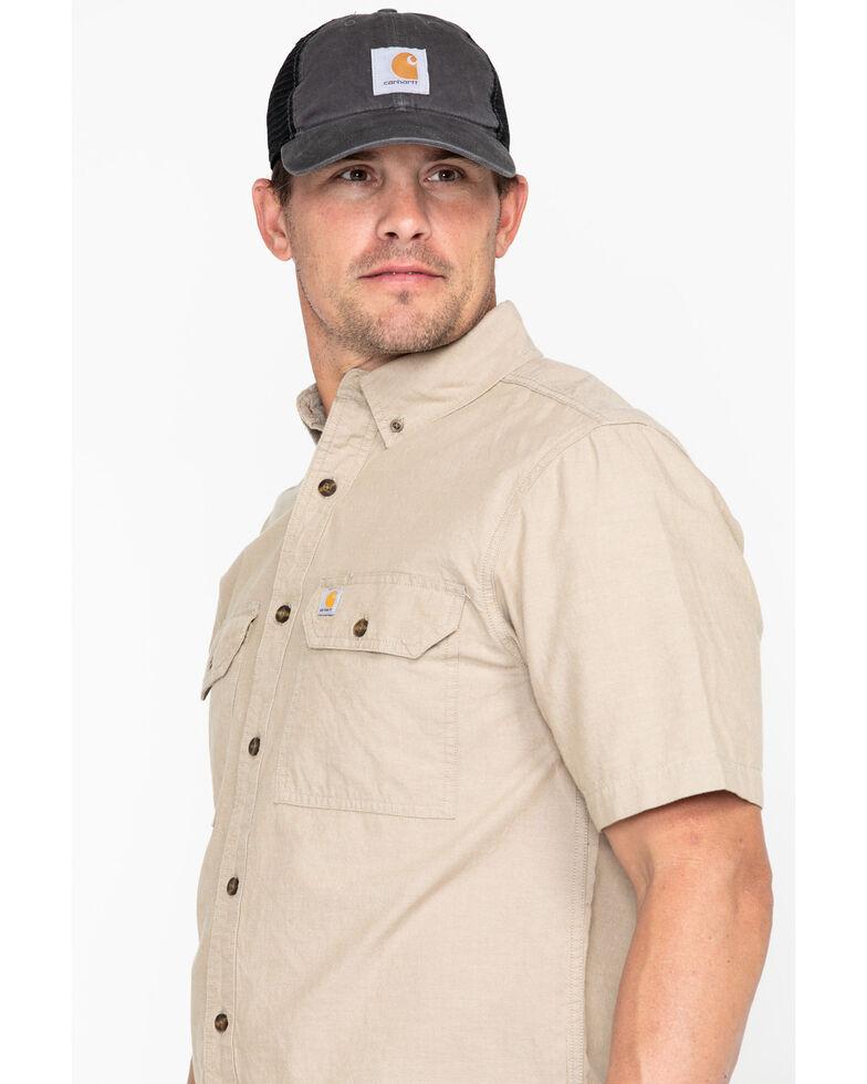 Carhartt Fort Short Sleeve Work Shirt, Tan, hi-res