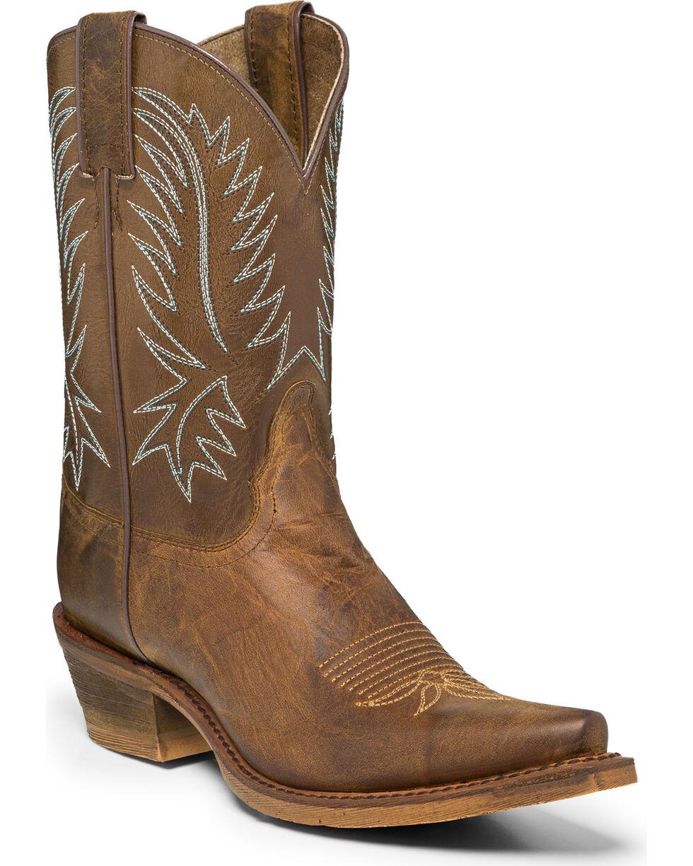 "Nocona Women's 7"" Vintage Cowgirl Boots - Snip Toe, Brown, hi-res"