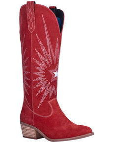 Dingo Women's Star Is Born Western Boots - Round Toe, Red, hi-res