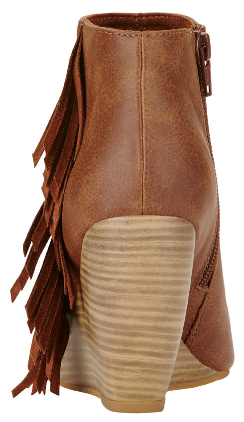 Ariat Women's Brown Unbridled Jaycee Open Toe Booties, Brown, hi-res