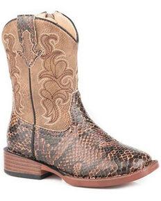 Roper Toddler Girls' Viper Western Boots - Square Toe, Brown, hi-res