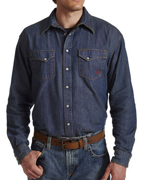 Ariat Flame Resistant Denim Snap Shirt, Denim, hi-res