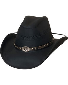 3f5e0995f1a Bullhide Get On Top Grain Leather Hat