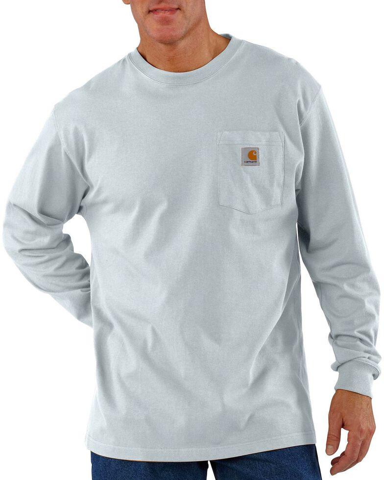 Carhartt Long Sleeve Pocket Work Shirt - Tall, Ash, hi-res