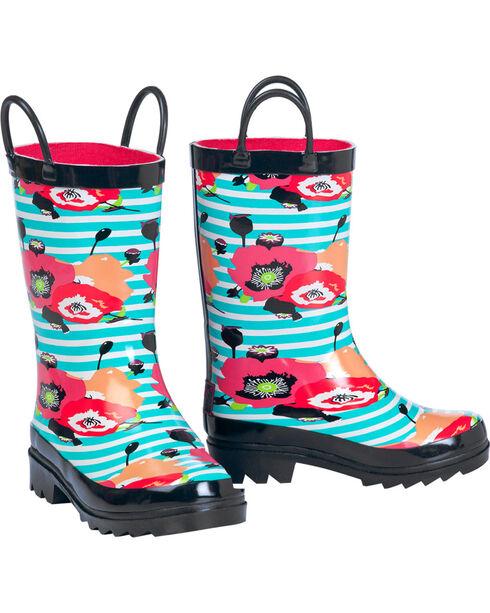Blazin Roxx Girls' Sophia Rain Boots , Multi, hi-res