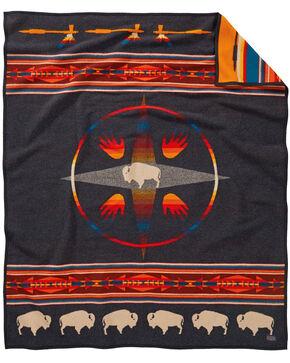 Pendleton Big Medicine Robe Blanket , Black, hi-res