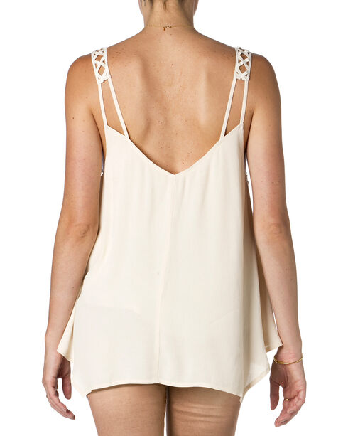 Miss Me Cream Embroidered Tank Top  , , hi-res