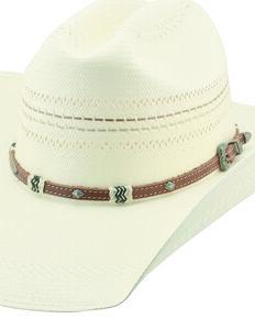 6e9b4367bac1e Larry Mahan 10X Mission Straw Cowboy Hat