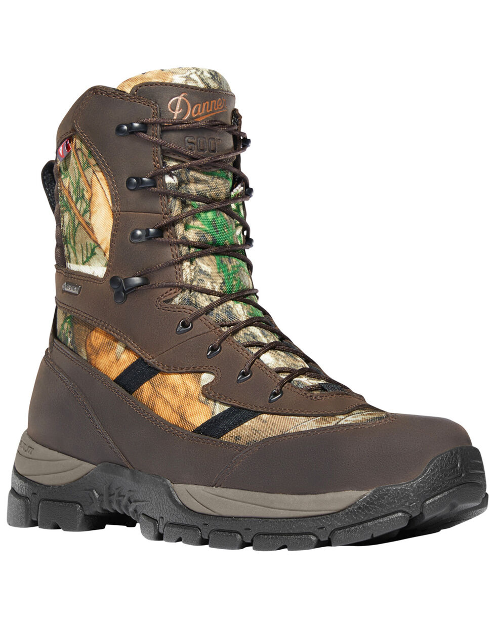 """Danner Men's Mossy Oak Alsea 8"""" Lace Up Waterproof 600G Insulated Boots - Round Toe, Camouflage, hi-res"""