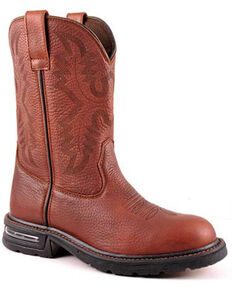Roper Men's Cotter Western Boots - Round Toe, Brown, hi-res