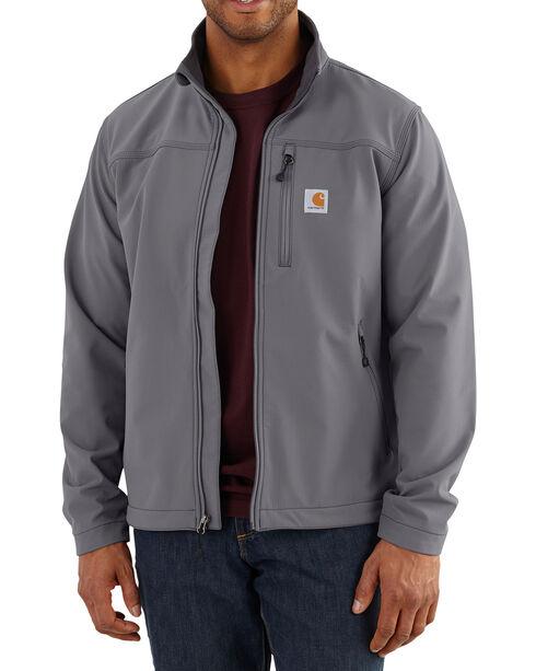 Carhartt Men's Charcoal Denwood Jacket - Tall , Charcoal, hi-res