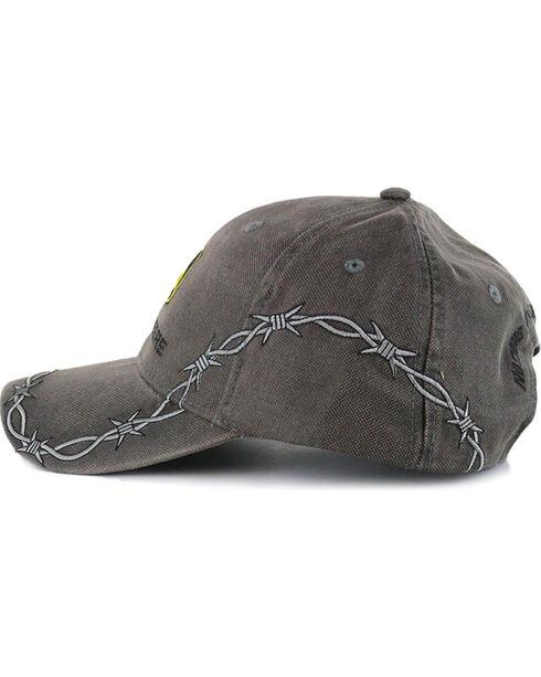 John Deere Men's Barbed Wire Ball Cap, Grey, hi-res