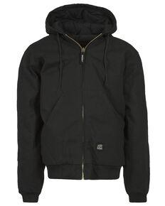 Berne Duck Original Hooded Jacket, Black, hi-res