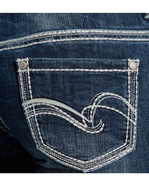 Rock & Roll Cowgirl Women's Indigo Original Low Rise Jeans - Boot Cut , Indigo, hi-res
