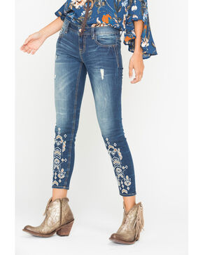 Miss Me Women's Under Your Spell Mid-Rise Ankle Skinny Jeans, Indigo, hi-res