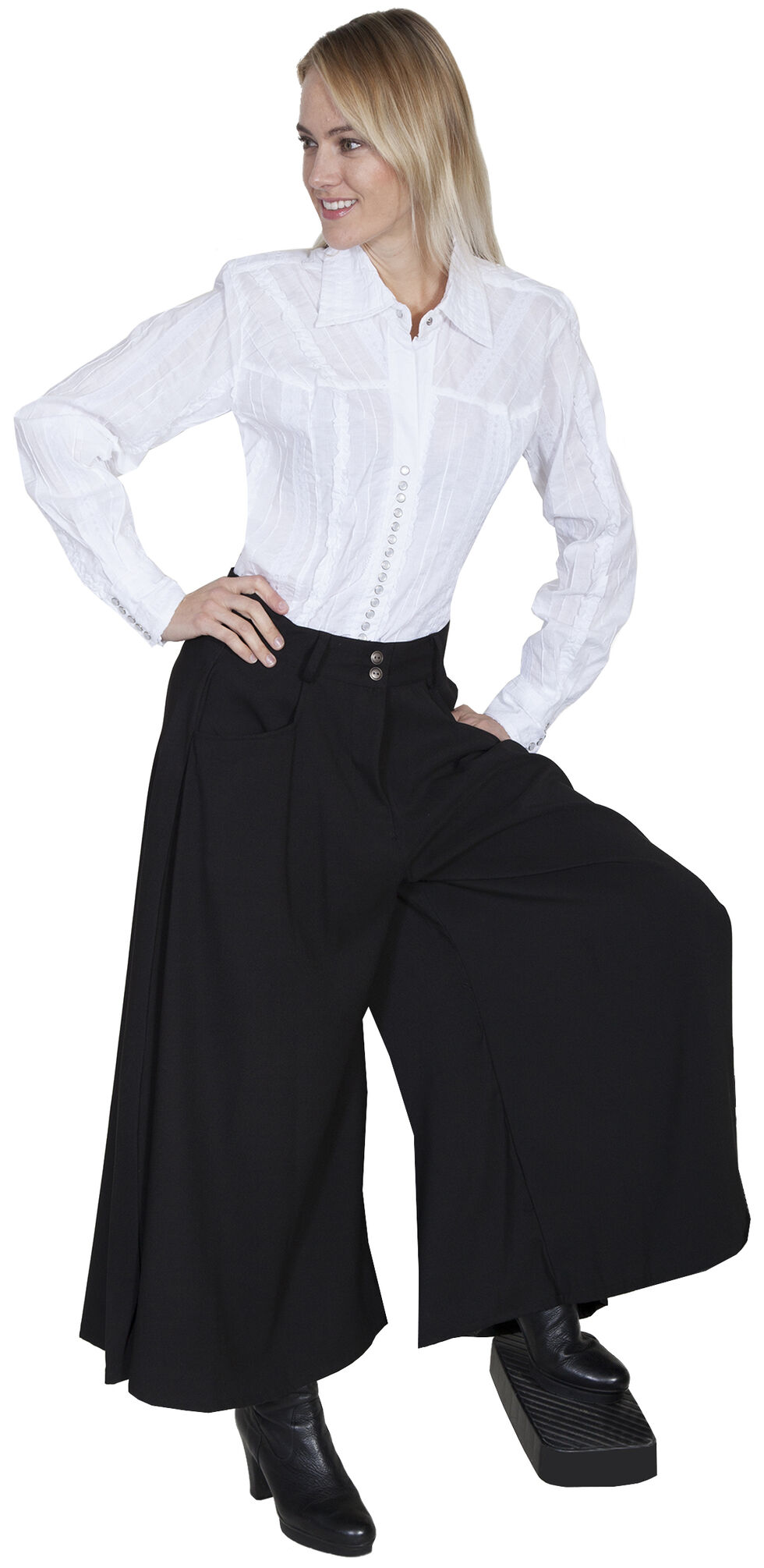 Scully Sueded Riding Skirt, Black, hi-res
