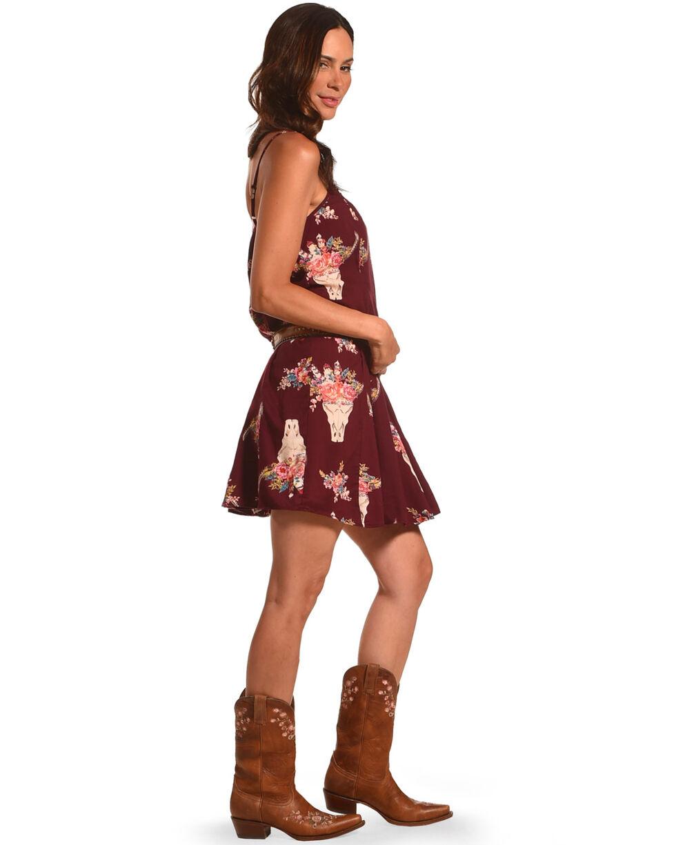 Angie Women's Floral Steer Skull Dress, , hi-res