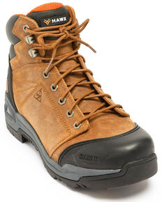 Hawx Men's Lace To Toe Hiker Boots - Composite Toe, Brown, hi-res