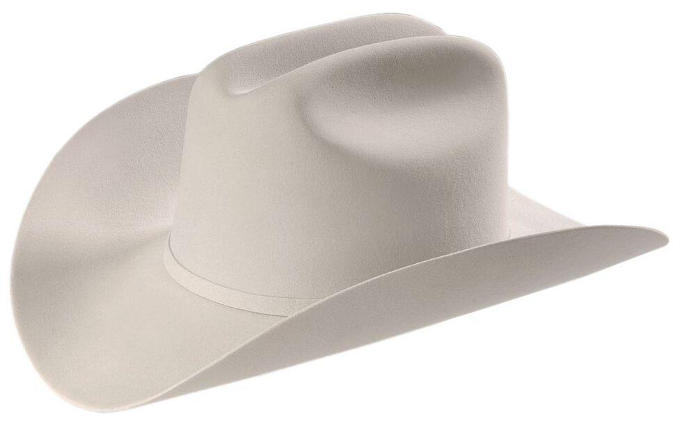 Larry Mahan 6X Real Fur Felt Western Hat, Platinum, hi-res