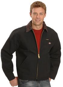Dickies Men's Blanket Lined Duck Work Jacket - Big & Tall, Black, hi-res
